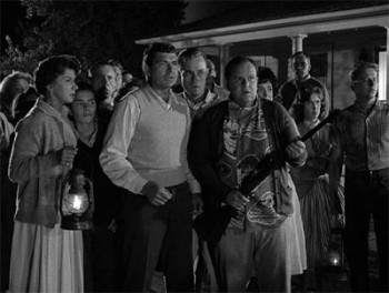 The residents of Maple Street become a violent mob.